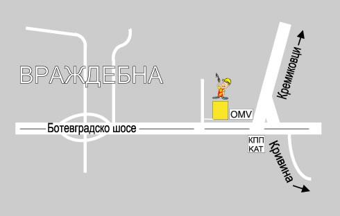 """Карта склад Строителна борса """"Партньори"""" – кв. Враждебна"""