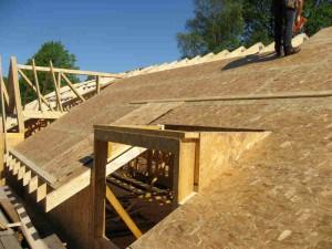 OSB плоскости върху покрив